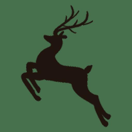 Reindeer silhouette jumping 25