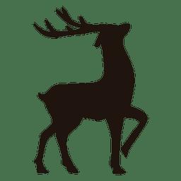 Reindeer silhouette standing 13