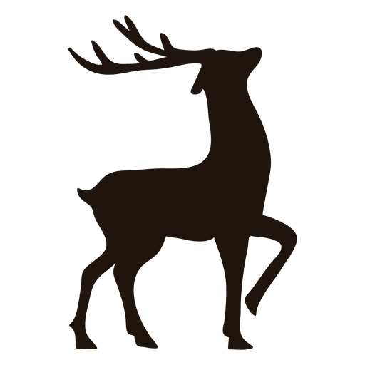 Reindeer Silhouette Standing 13 Transparent Png Amp Svg Vector