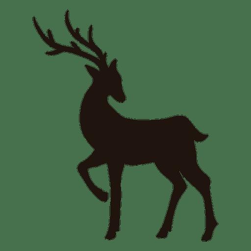 Reindeer silhouette standing 18