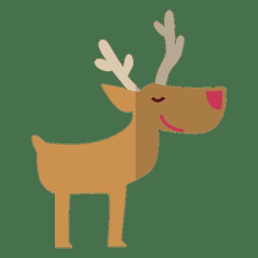 Reindeer standing flat icon 10