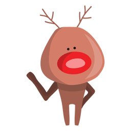 Reindeer waving hello 78