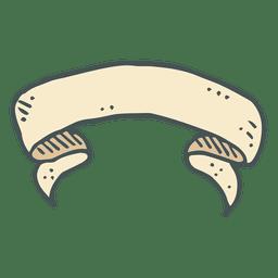 Icono de dibujos animados dibujados a mano de cinta 11
