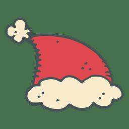 Santa claus hat hand drawn cartoon icon 1