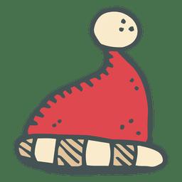 Sombrero de santa claus dibujado a mano icono de dibujos animados 4