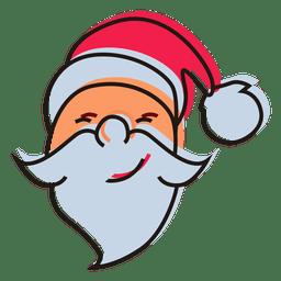 Santa claus head cartoon icon 16