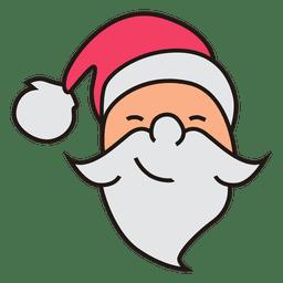 Santa claus head cartoon icon 28