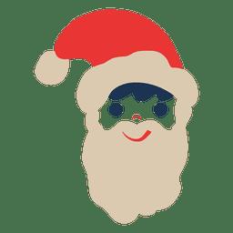 Santa claus head flat icon 72