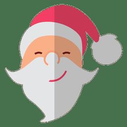 Santa claus head flat icon 9