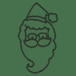 Santa claus cabeza mano dibujada icono de trazo 11