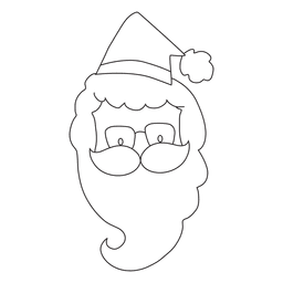 Santa claus head hand drawn stroke icon 11