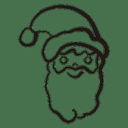 Icono de trazo de cabeza de Papá Noel 53