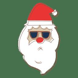 Santa claus head sunglasses cartoon icon 62