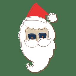 Santa claus head sunglasses cartoon icon 71