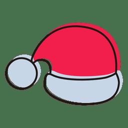 Icono de dibujos animados de sombrero de Santa 19