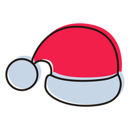 Santa hat cartoon icon 19