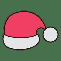 Ícone dos desenhos animados de chapéu de Papai Noel 31