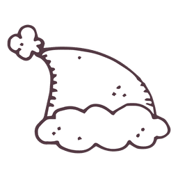 Santa sombrero dibujado a mano icono 1