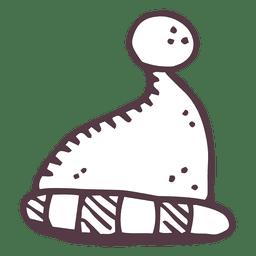 Chapéu de Papai Noel desenhado a mão ícone 22