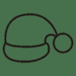 Icono de trazo de sombrero de Santa 43