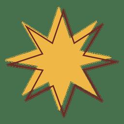 Sharp star cartoon 02