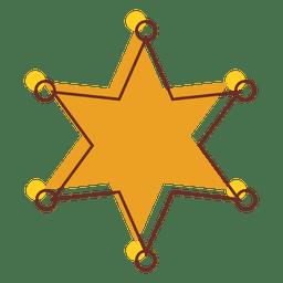 Desenho animado estrela xerife 01