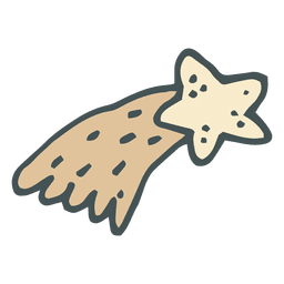 Shooting star hand drawn cartoon icon 11