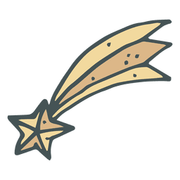 Shooting star hand drawn cartoon icon 33