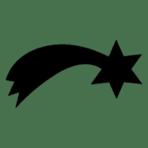 Silueta de estrella fugaz 14 Transparent PNG