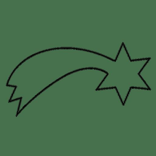 Estrella fugaz trazo 15 Transparent PNG