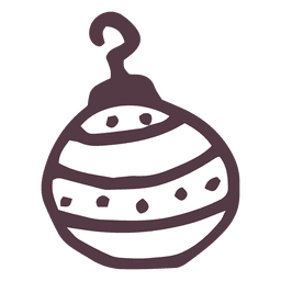 Icono dibujado a mano pequeña bola de christmsa 10