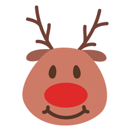 Smile reindeer face emoticon 41