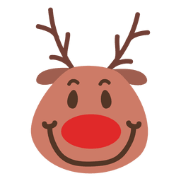 Smile reindeer face emoticon 47