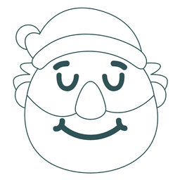 Sonrisa de santa claus emoticon verde trazo 30