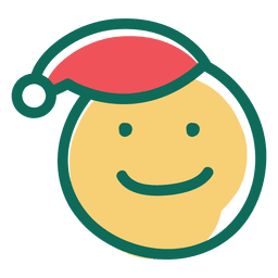 Smile santa claus hat face emoticon 16