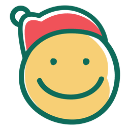 Smile santa claus hat face emoticon 17