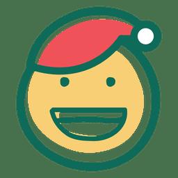 Smile santa claus hat face emoticon 31