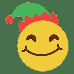 Emoticon de rosto de chapéu elfo sorridente 11