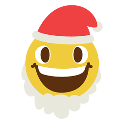 Emoticon sonriente cara de santa claus 8