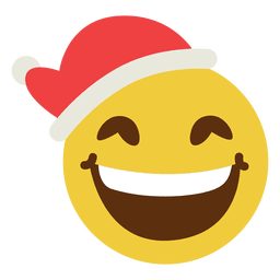 Smiling santa claus hat face emoticon 15