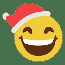 Sonriendo sombrero de Santa Claus cara del emoticon 15