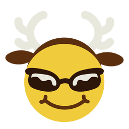 Smiling sunglasses antlers face emoticon 7