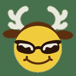 Sonrientes astas gafas de sol de la cara del emoticon 7