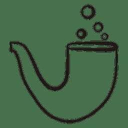 Icono de trazo de fumar pipa 50