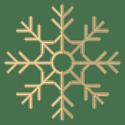 Ícone dos desenhos animados do floco de neve 16
