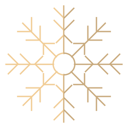 Icono de dibujos animados de copo de nieve 16
