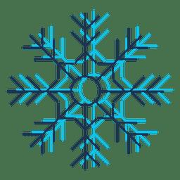 Ícone dos desenhos animados do floco de neve