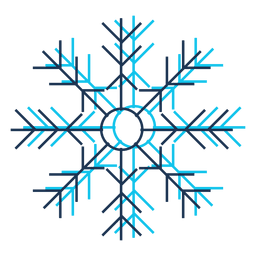 Icono de dibujos animados de copo de nieve 36
