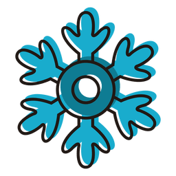Snowflake cartoon icon 18