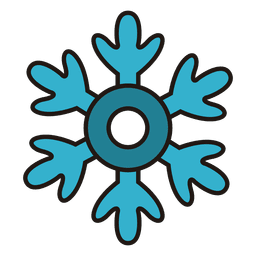 Snowflake cartoon icon 30